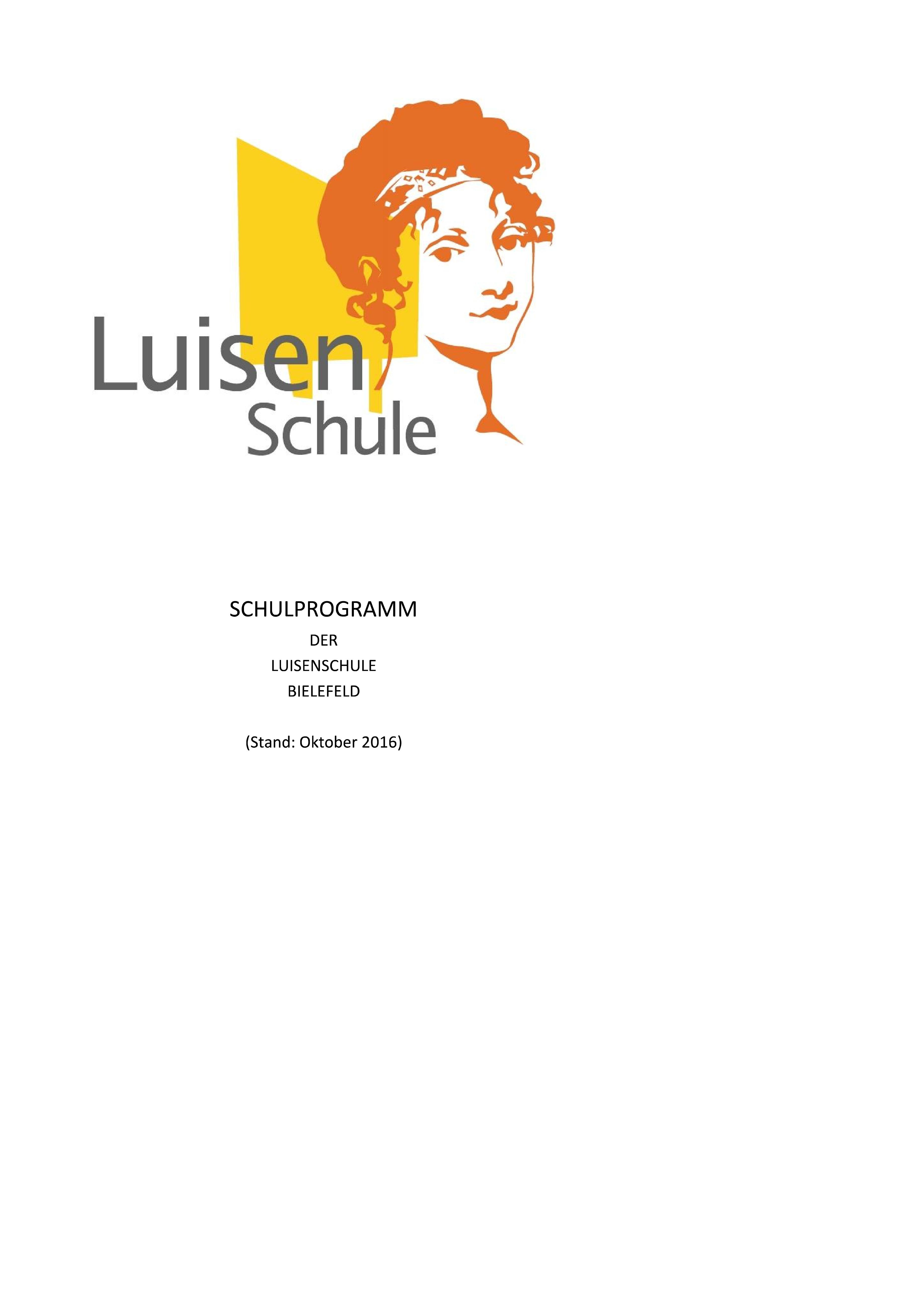 Luisenschule Bielefeld Schulprogramm 2016 10 Deckblatt